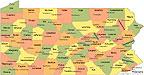 PA Lyme per county